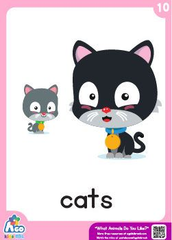What Animals Do You Like? | Animal, Fruit and Colors Song Printable Flashcards -…