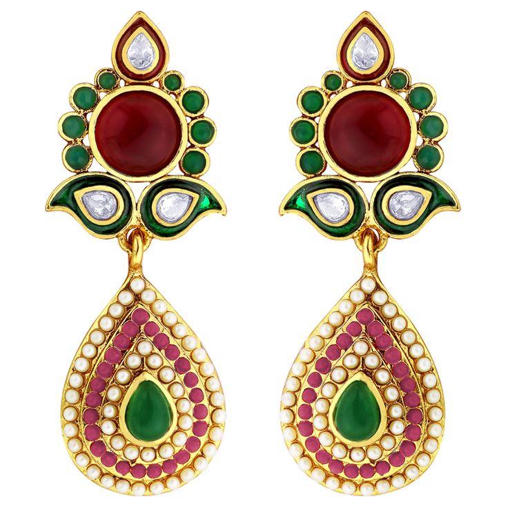 Indian ornate earrings - SHOP www.viyari.com