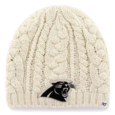 Carolina Panthers '47 Brand Women's Shawnee Knit Beanie - Natural