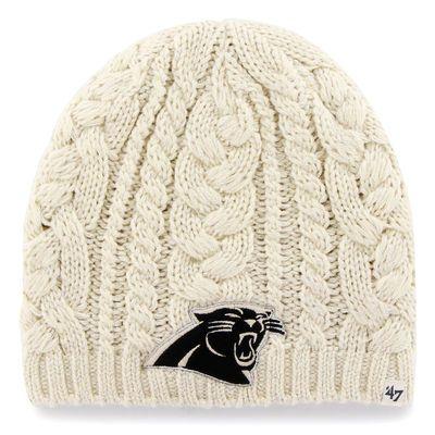 Women's Carolina Panthers '47 Brand Natural Shawnee Knit Beanie