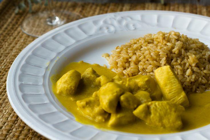 #Receta #Pollo al #Curry #fácil