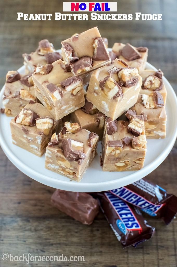 snickers fudge recipes no fail fudge recipes butter snickers snickers ...