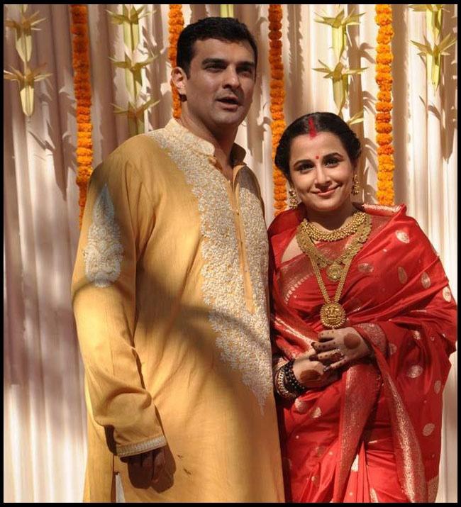 Vidya Balan sported jewellery from Gehna for her wedding.