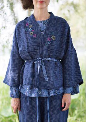 """Kimono Jacket """"Kjóto"""" v plátnové / viskózové 51101-60_51101-60.jpg"""