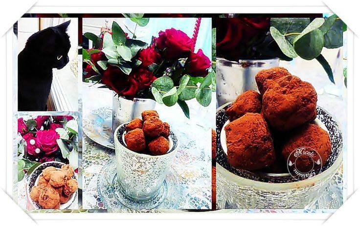 Quelques truffes chocolat selon Christophe Felder.......Un bonheur!