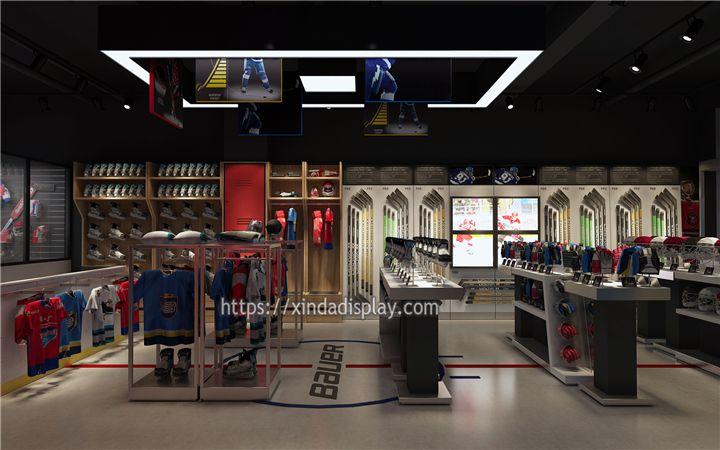 Custom Hockey Sport Shop Design Ice Hockey Shop Fittings Manufacturing Shop Interior Design Shop Fittings Retail Store Design