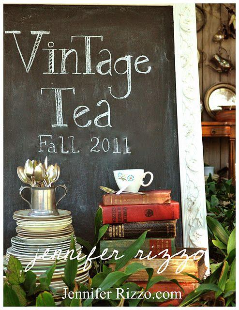 Vintage: Jennifer Rizzo, Teas Collection, Teas Time, Photos Ideas, Vintage Teas, Chalkboards Signs, Parties Ideas, Fall Teas, Teas Parties