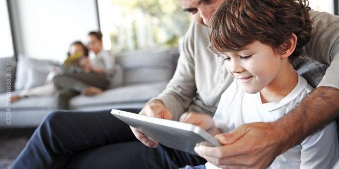 Genitori e figli sui #socialnetwork e i papà scelgono i #tablet - #festadelpapa