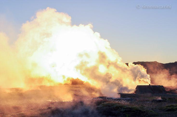 Haukadalur, Iceland, Geysir Hot Spring Area