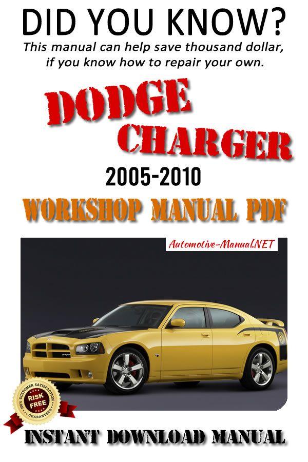 Download Dodge Charger 2005 2010 Workshop Manual Pdf Dodge Charger Dodge Repair Manuals