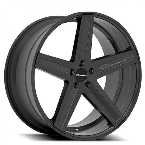 "20"" Staggered Giovanna Wheels Dramuno-5 Black Rims"