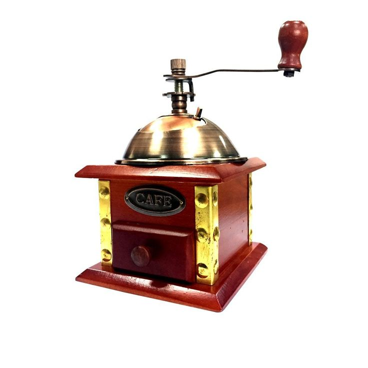 XHHOME Retro Style Manual Hand-crank Coffee Grinder Golden Tone ** You can find more details by visiting the image link.