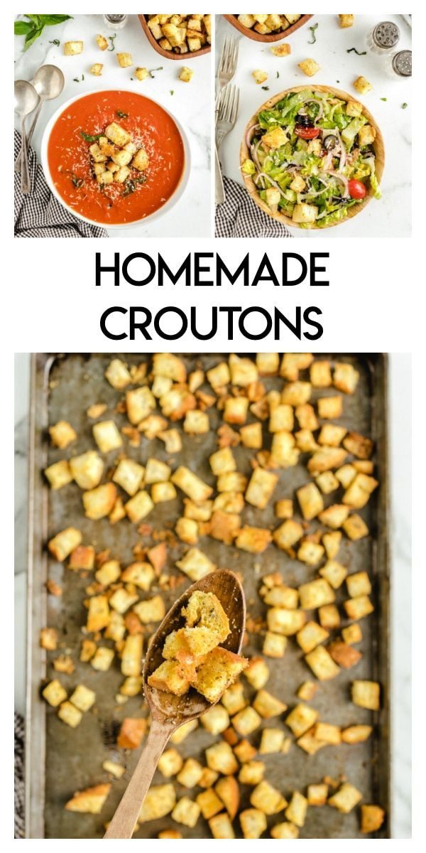 These Homemade Croutons are a delicious and simple recipe for crunchy croutons that are perfect for soups, salads, and m…