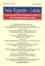 Wydawnictwo Naukowe Scholar :: :: 2004 STUDIA REGIONALNE I LOKALNE nr 3(17)