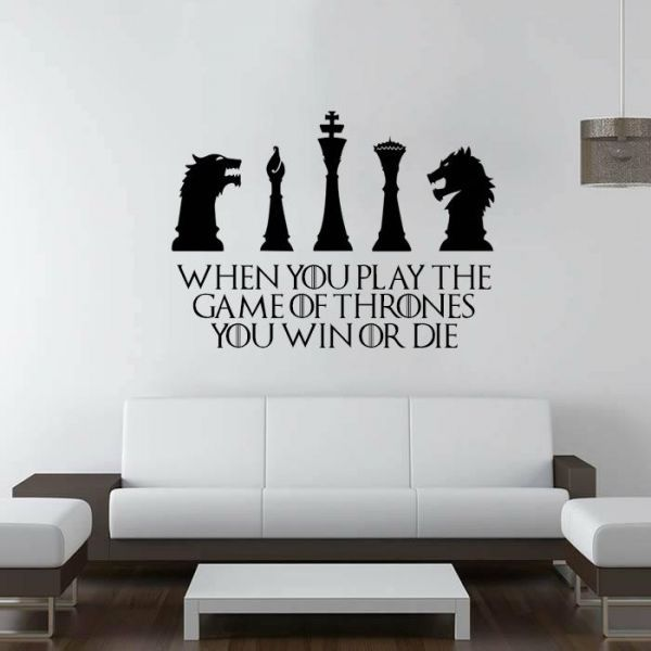 Wall Decals For Living Room Game Of Throne Design Home Decor Waterproof Wall Stickers Wall Stickers Gaming Wall Stickers Living Room Wall Stickers