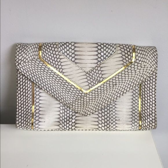 Vince Camuto Clutch Two tone clutch with gold hardware/detail Vince Camuto Bags Clutches & Wristlets