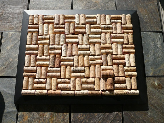 Black Cork Art/ Bullentin Board by Happiness2DAY on Etsy, $50.00