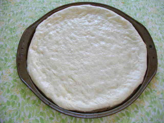 天然酵母のピザ生地の画像