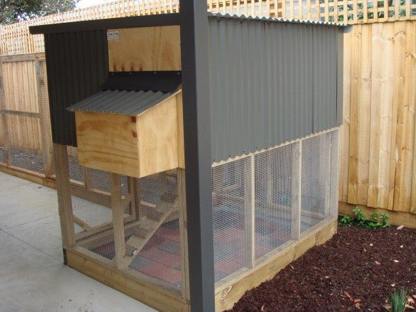 Two tiered chicken coop by Yummy Gardens, Melbourne