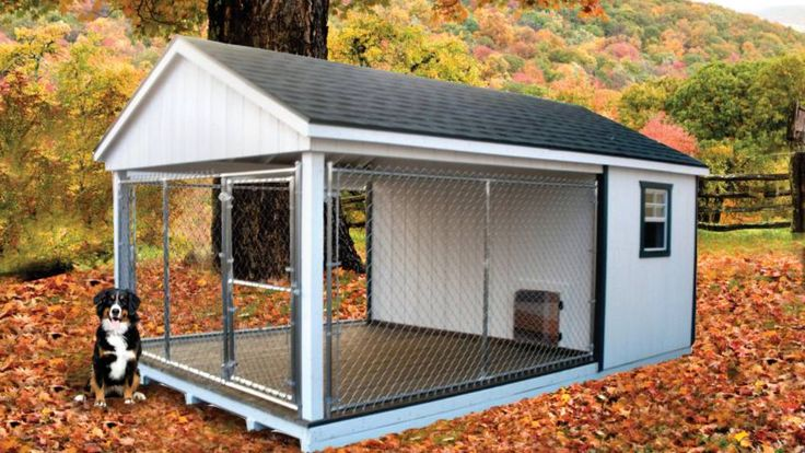 Dog house idea use the kennel for the sides and then have the insulated inner part through dog door. I don't like the idea of them spending a lot of time in the kennel but if I ever had to have them out there ( read: if I ever have a farm:) this would be a good alternative