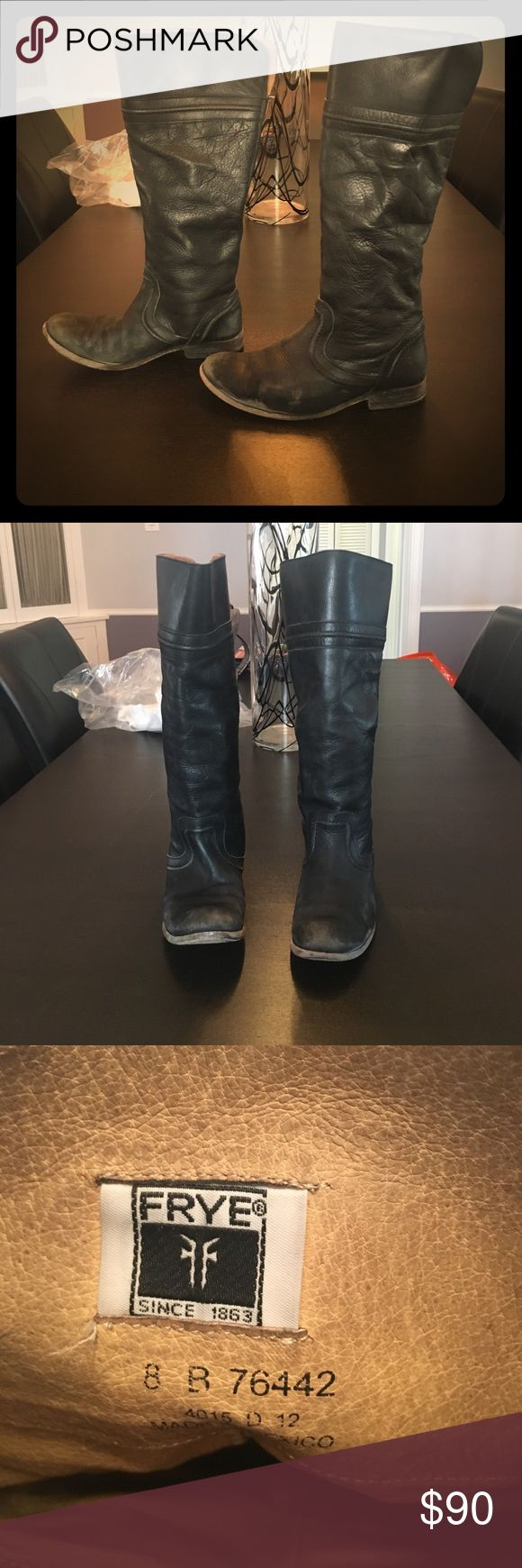 Frye riding boots Worn but still have a lot of life!!!! Frye Shoes Combat & Moto Boots