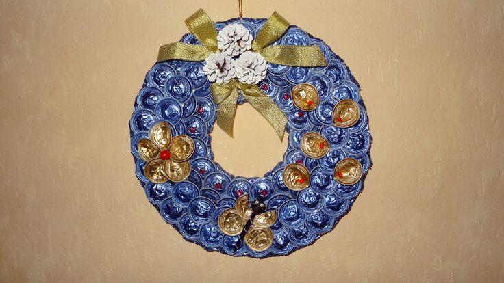couronne de Noel en capsules Nespresso faite par Joelle Pinet