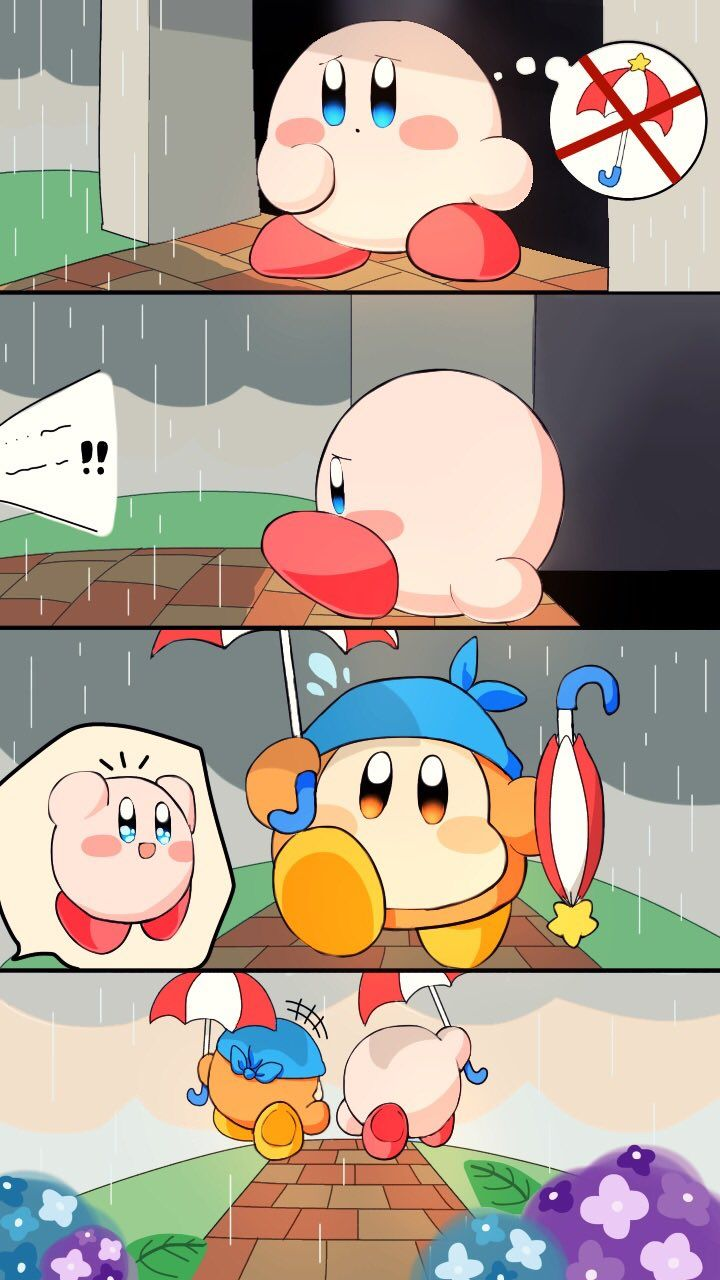 Parasol Kirby and Parasol Waddle Dee