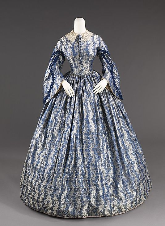 Wedding dress, c. 1860. Brooklyn Museum Costume Collection at The Metropolitan Museum of Art