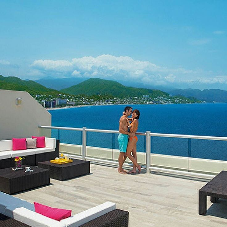 Did you know Sunscape Puerto Vallarta is located on a Clean Beach certified by the Ministry of the Environment and Natural Resources of Mexico which ensures Sunscape Puerto Vallarta's beach meets a high standard for cleanliness quality of water safety sustainability protection of wildlife and more? Check out that terrace view too.