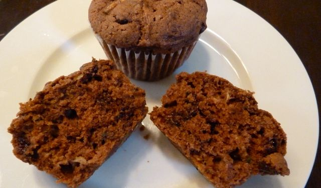 Easy and Delicious Double Chocolate Zucchini Muffins {Recipe}