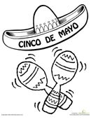 Help your child celebrate Cinco de Mayo with this festive coloring page.