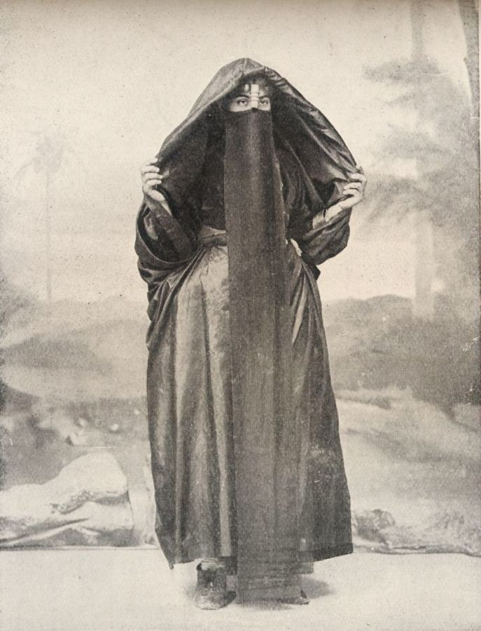 P. Dittrich, A Coptic woman of the poorer class, Egypt, 1918.z  Interestinh,Niqab and most forms of veiling predates Islam in the Middle East and Eastern European.