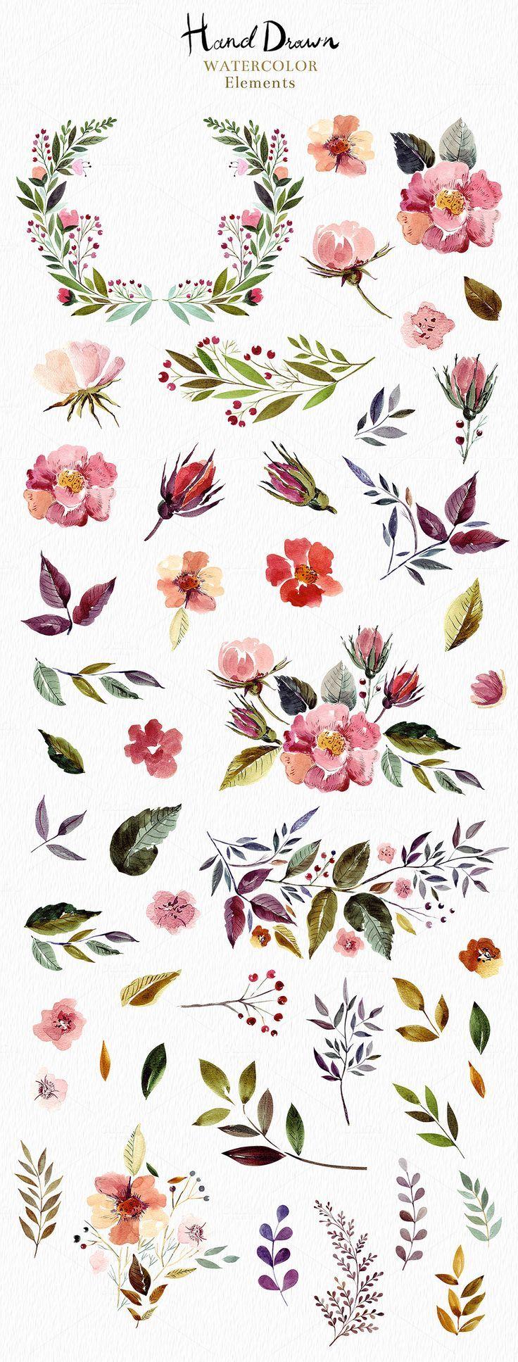 Big Watercolor Bundle by MoleskoStudio on Creative Market – Nina Berner