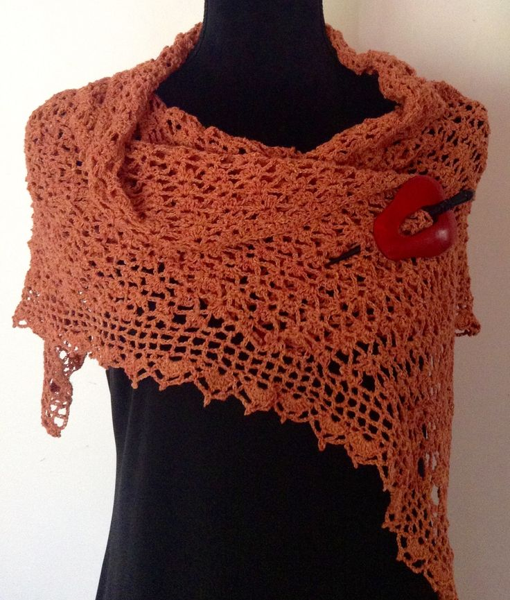 Scarf Wrap Raw Silk 'A Touch of Spice'