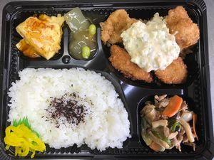 平成29年9月5日(火)ランチメニュー:チキン南蛮とお魚フライ/豚肉しょうが/かに玉/冬瓜煮