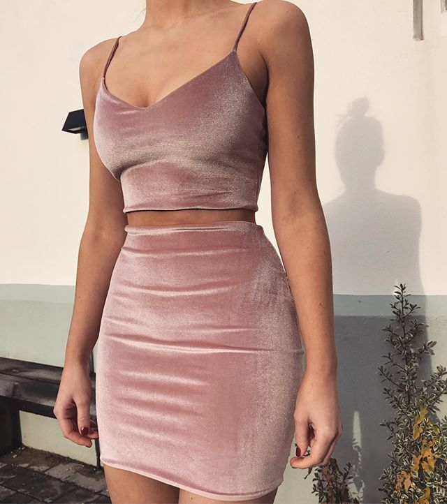 Our 'Sweetheart' two piece set in soft velvet // order now to receive in time for New Year's Eve // available in grey & black velvet too: www.boomboomthelabel.com