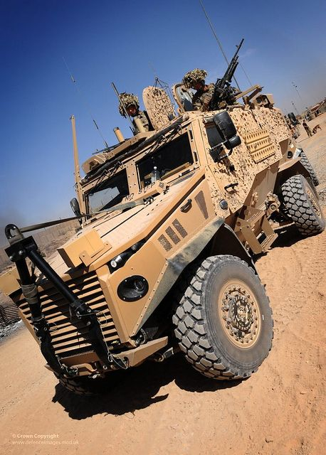 Foxhound Light Protected Patrol Vehicle photographed in Patrol Base Wahid, Helmand Afghanistan.