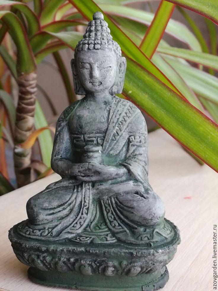 Купить Маленький Будда из бетона для флоррариума и террариума - фигурка, будда, для флористики, флорариум, террариум, миниатюра