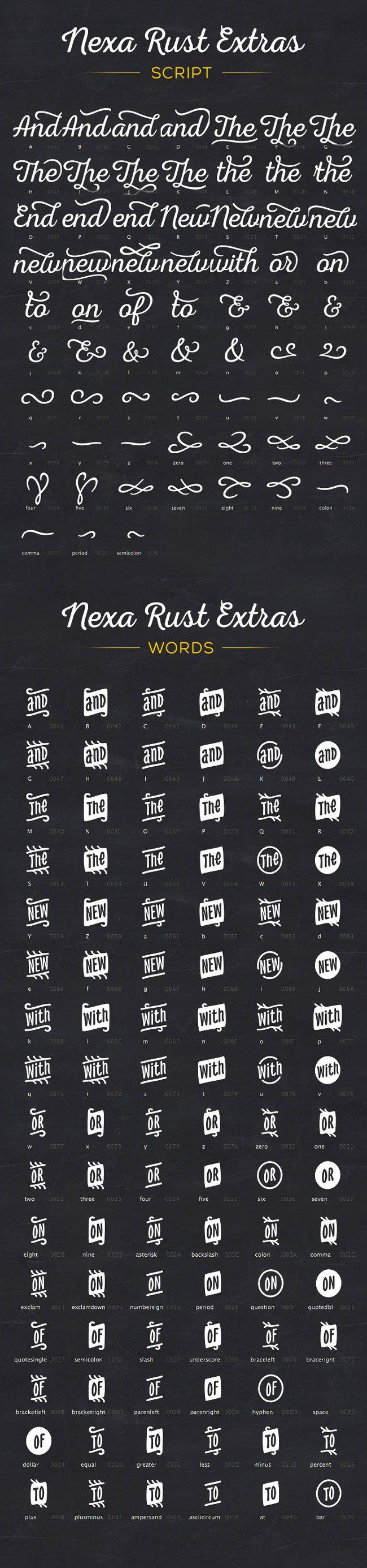NEXA RUST - Super Mega Pack of 83 fonts (5 sub-families)   Mighty Deals