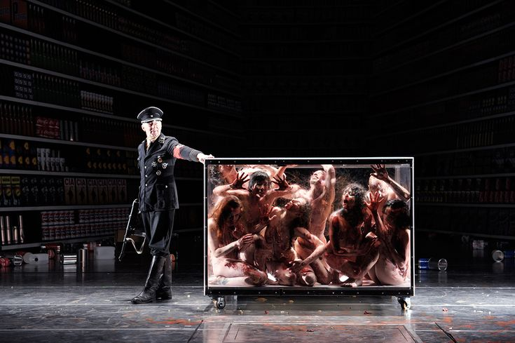Die 120 Tage von Sodom at Volksbühne Berlin, photo: Thomas Aurin   damn this looks so creepy