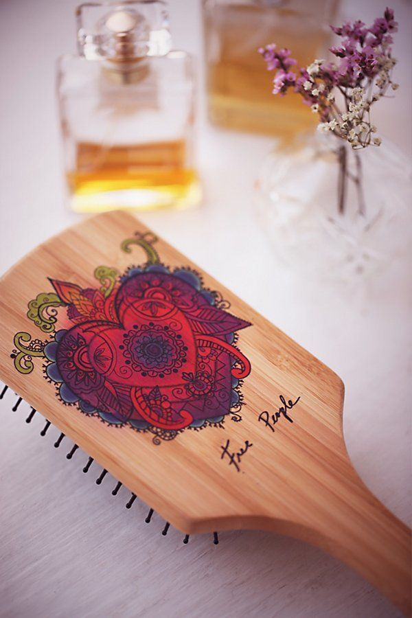 Hand Painted Wooden Brush by Gypsy Pea Magoo at Free People (affiliate)