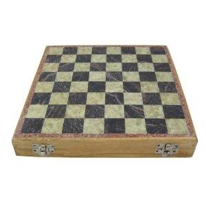 Jeu d'échecs unique - Pièces et échiquier en pierres - Intérieur de la boîte en mousse et en satin - Fabriqué artisanalement au Rajasthan - Cadeau culturel de l'Inde: Amazon.fr: Jeux et Jouets