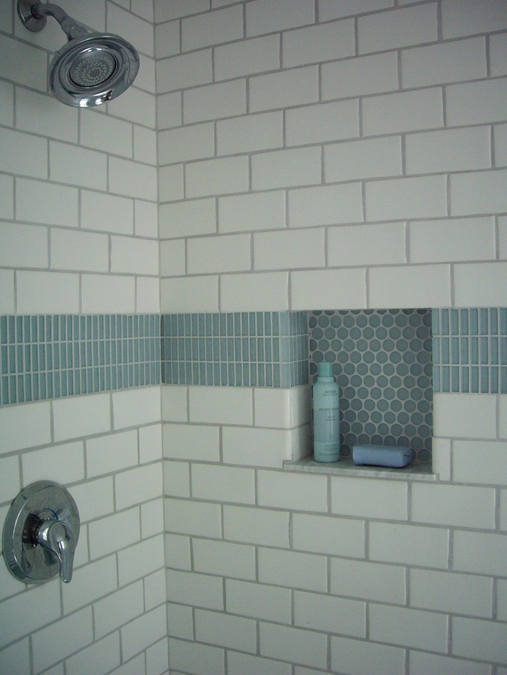 Love This Accent Tile And Niche Bath Fixtures And