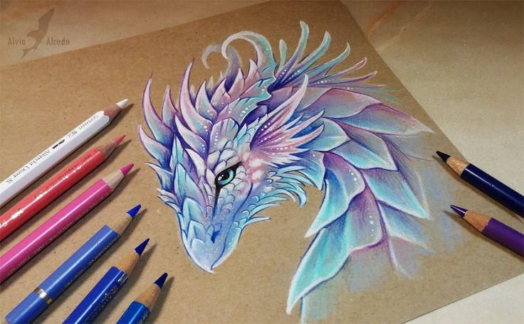 In good stories dragons can't acting like a bad characters, right? (: Faber-Castell pencils on a brown paper. FACEBOOK ETSY SHOP INSTAGRAM ...