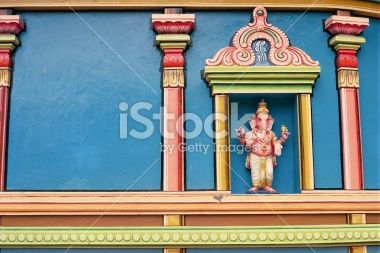 Ganesha Statue on wall of Temple Royalty Free Stock Photo