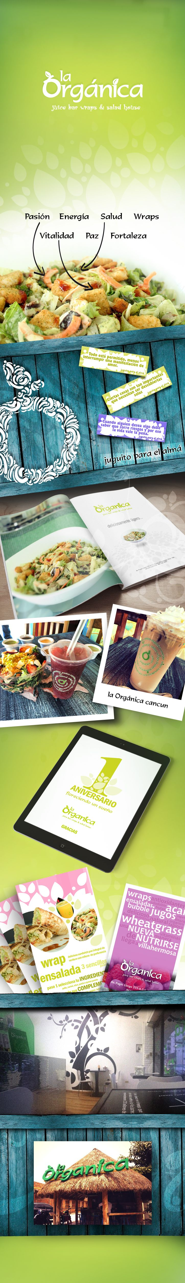 diseño de logo e imagen del restaurante la orgánica