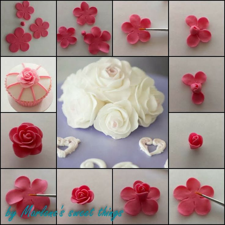 Marlene's sweet things: Rosen Tutorial mit dem 5-Petal Flower Cutter