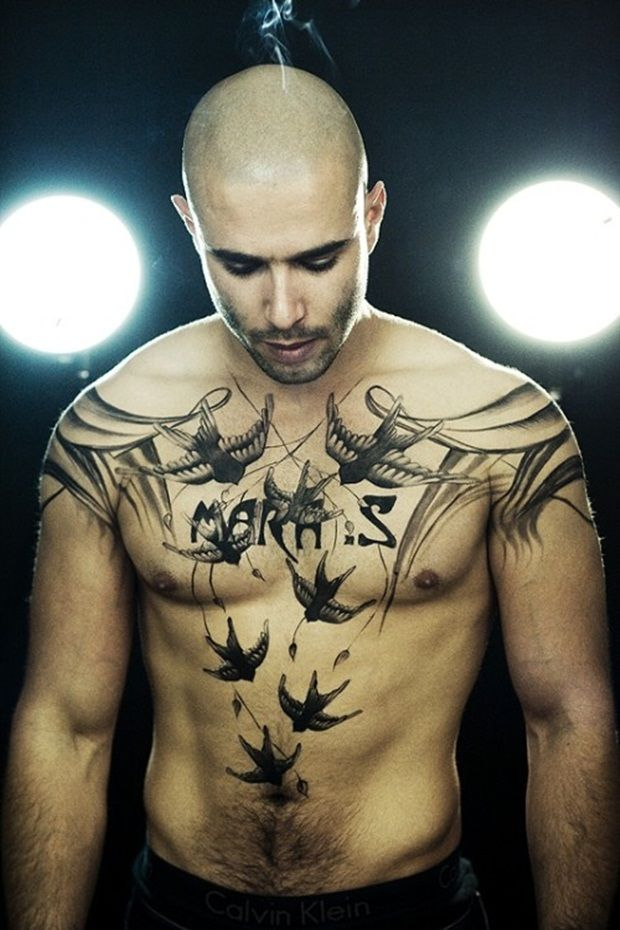 Kid Ink Chest Tattoos Tattoos on pinterest  sailor