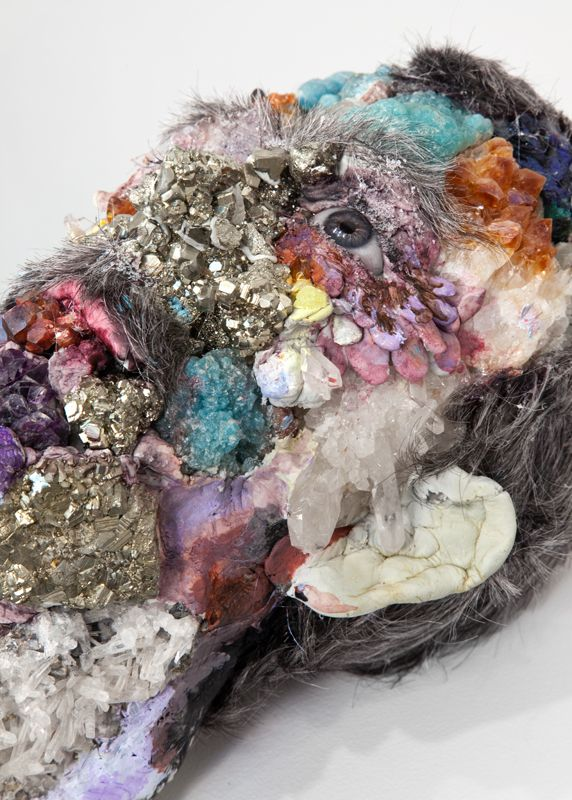 David Altmejd, Untitled, 2010 foam, epoxy clay, glass eyes, fake eyelashes, synthetic hair, acrylic paint, mixed minerals including, amethyst, pyrite, quartz, sulfer, calcite, vanadinite