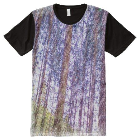 Forest photo drawing effect All-Over-Print shirt - tap, personalize, buy right now!